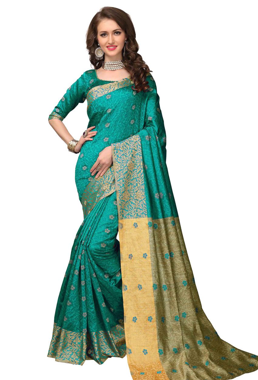 Green Banarasi Silk Kanjeevaram Saree